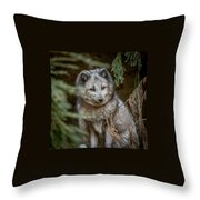 Waiting For Red Throw Pillow