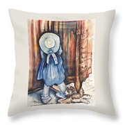 Waiting For Redemption Throw Pillow