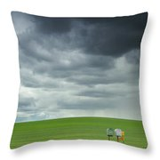 Waiting For Something Throw Pillow