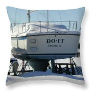 Waiting For Summer To Just Do-it  Throw Pillow