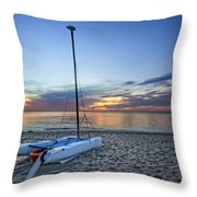 Waiting For Sunrise Throw Pillow