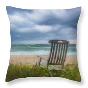 Waiting For Sunrise On The Dunes Throw Pillow