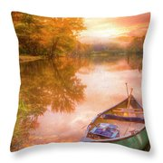 Waiting For The Dawn In Peach Throw Pillow