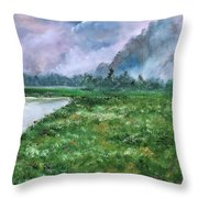 Waiting For The Forecast Throw Pillow