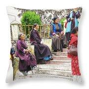 Waiting For The Karmappa Lama Throw Pillow