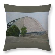 Waiting For The Next Event Mellon Arena Pittsburgh Throw Pillow