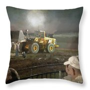 Waiting For The Pull Throw Pillow