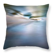 Waiting For The River Throw Pillow