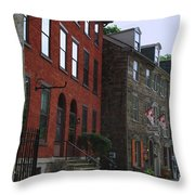 Waiting For The Shoppers Throw Pillow