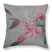Waiting For The Spring Throw Pillow