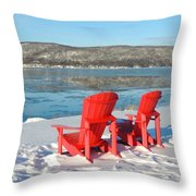 Waiting For The Summer Throw Pillow