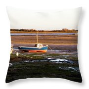 Waiting For The Tide Throw Pillow by Trevor Wintle