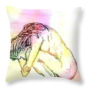 Waiting For The Wounds To Heal Throw Pillow