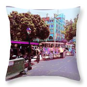 Waiting For Tourists Throw Pillow