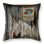 Waiting For Watson Throw Pillow by Doug Strickland