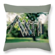 Waiting For Work Throw Pillow