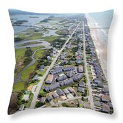 Waiting For You Topsail Island Throw Pillow