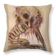 Waiting Forever...... Throw Pillow