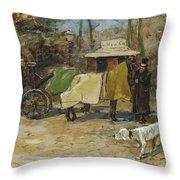 Waiting In A Car Park  Willem De Zwart  1872   1931 Throw Pillow