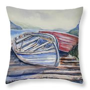 Waiting In The Cove Throw Pillow