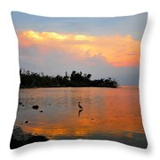 Waiting In The Gulf Throw Pillow