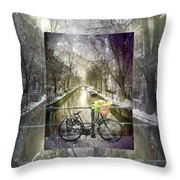 Waiting In The Snow Throw Pillow