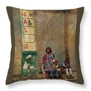Waiting On A Ride Throw Pillow