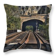 Waiting On A Train Throw Pillow