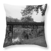 Waiting On The Train Throw Pillow