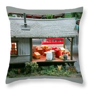 Waiting On The Truck Throw Pillow