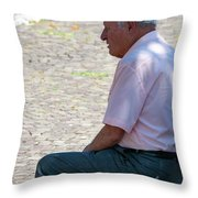 Waiting On Time Throw Pillow