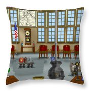 Waiting Room At The Depot Throw Pillow