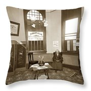 Waiting Room Of Dr. C. H. Pearce, D.d.s. Dentist, Watsonville,  Throw Pillow