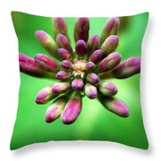 Waiting To Blossom Throw Pillow