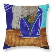 Waiting To Go Out Throw Pillow