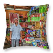 Waiting To Make A Sale Throw Pillow