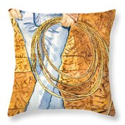 Waiting To Rope Throw Pillow