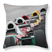 Waiting To Run Throw Pillow by Lauri Novak