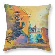 Waiting Until The Evening Comes Throw Pillow