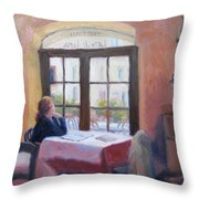 Waiting Wistfully Throw Pillow