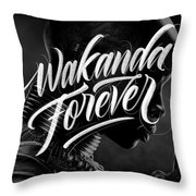 Wakanda Forever Okoye Throw Pillow