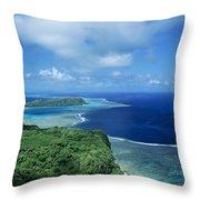 Wakaya Coastline Throw Pillow