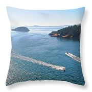 Wake-ful Waters Throw Pillow