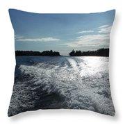 St. Lawrence Intercoastal Waterway Throw Pillow