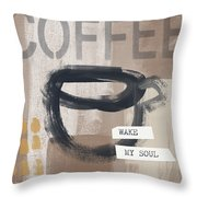 Wake My Soul- Art By Linda Woods Throw Pillow