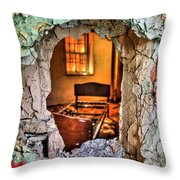Wake Up And Smell The Misery Throw Pillow