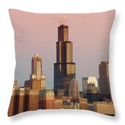 Wake Up Chicago Throw Pillow by Sebastian Musial