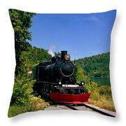 Wakefield Steam Train Throw Pillow