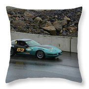 Wakefield Tire 63 Corvette Throw Pillow