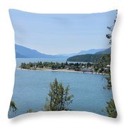 Waking Up In The Post Card Throw Pillow